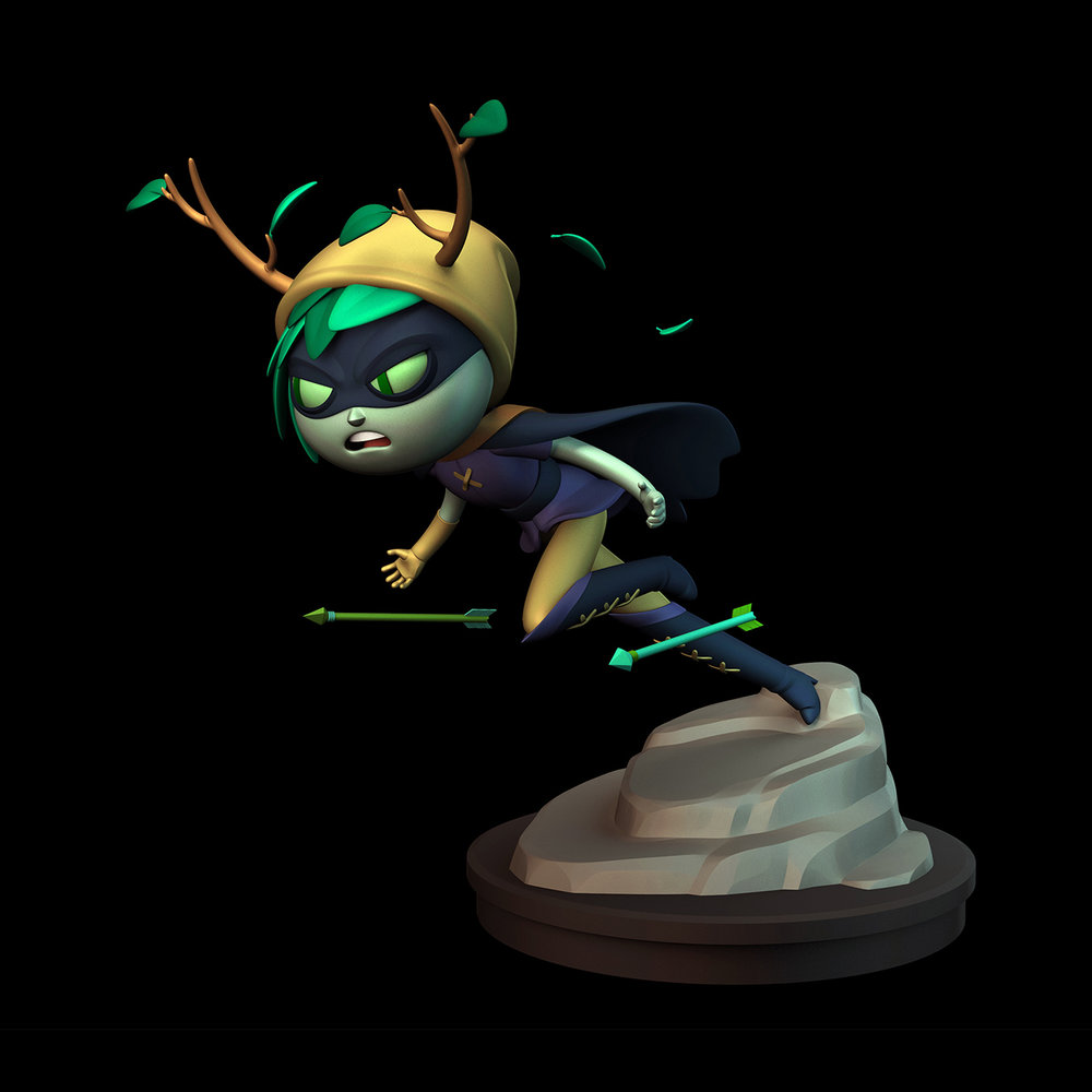 ZBRUSH MODEL - HUNTRESS WIZARD (ADVENTURE TIME)