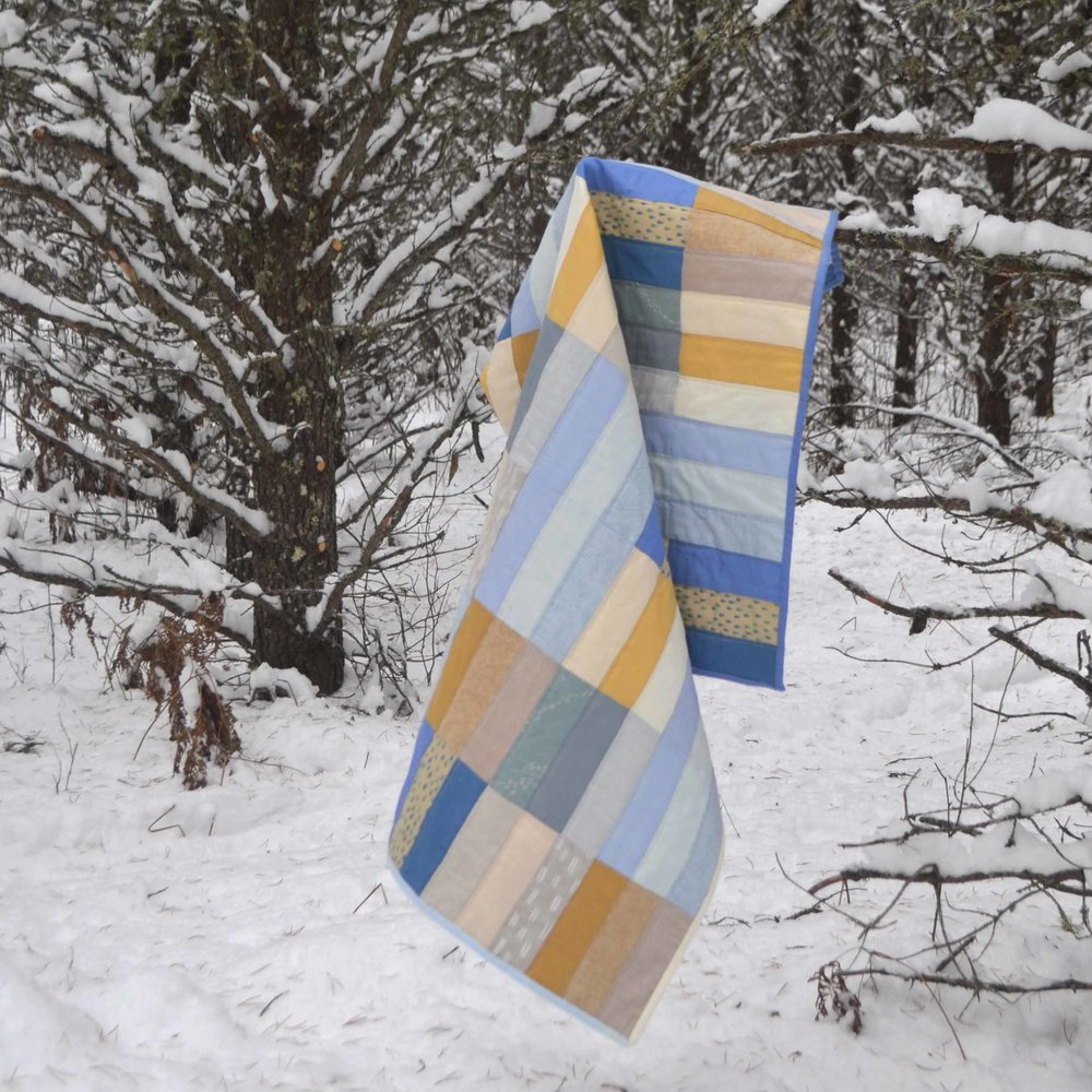 Paint Lake Quilt. Original design by The Blanket Statement