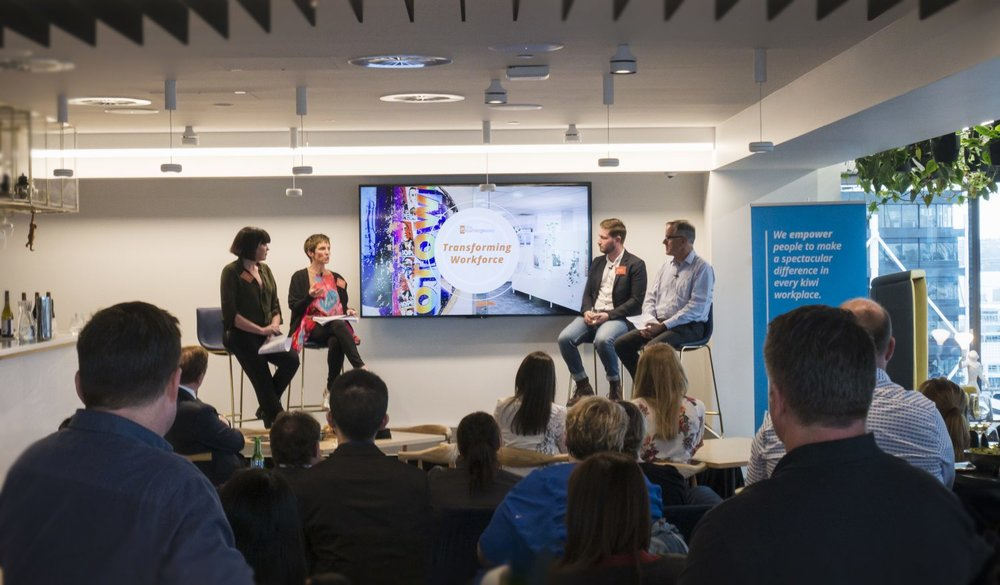 The Transforming Workplace - I led the conversation, with 4 of my clever and diverse colleagues on the implications of future of work for organisations in NZ.