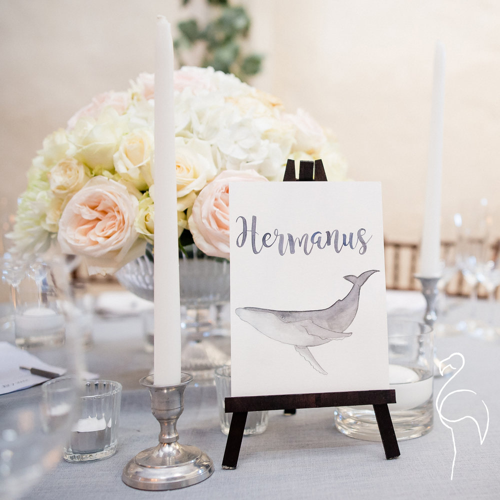 Brazzlebird - Wedding Table Sign Hermanus Humpback Whale.jpg