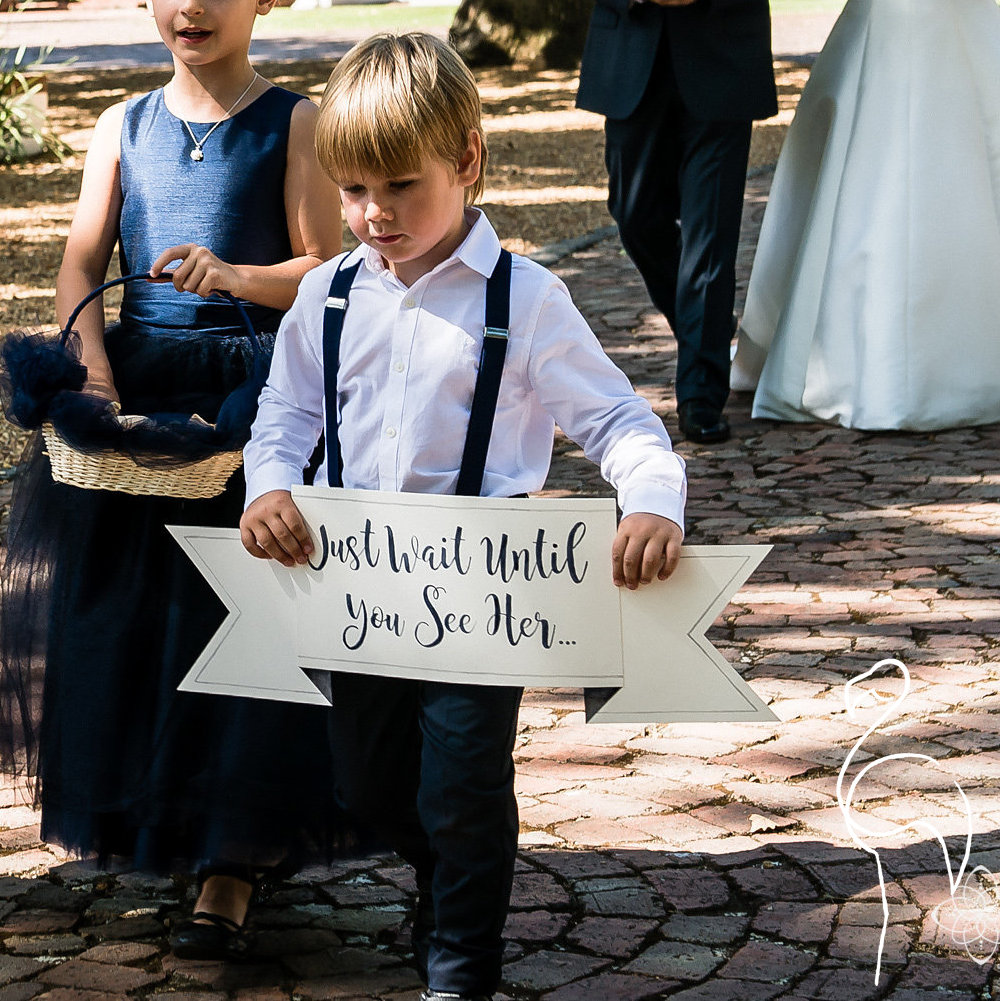 Brazzlebird - Watercolor Wedding Ringbearer Sign Just Wait Until You See Her.jpg