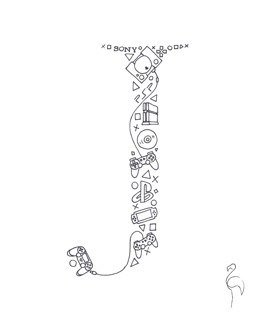 Brazzlebird - Letter J Drawing Sony Playstation.jpg