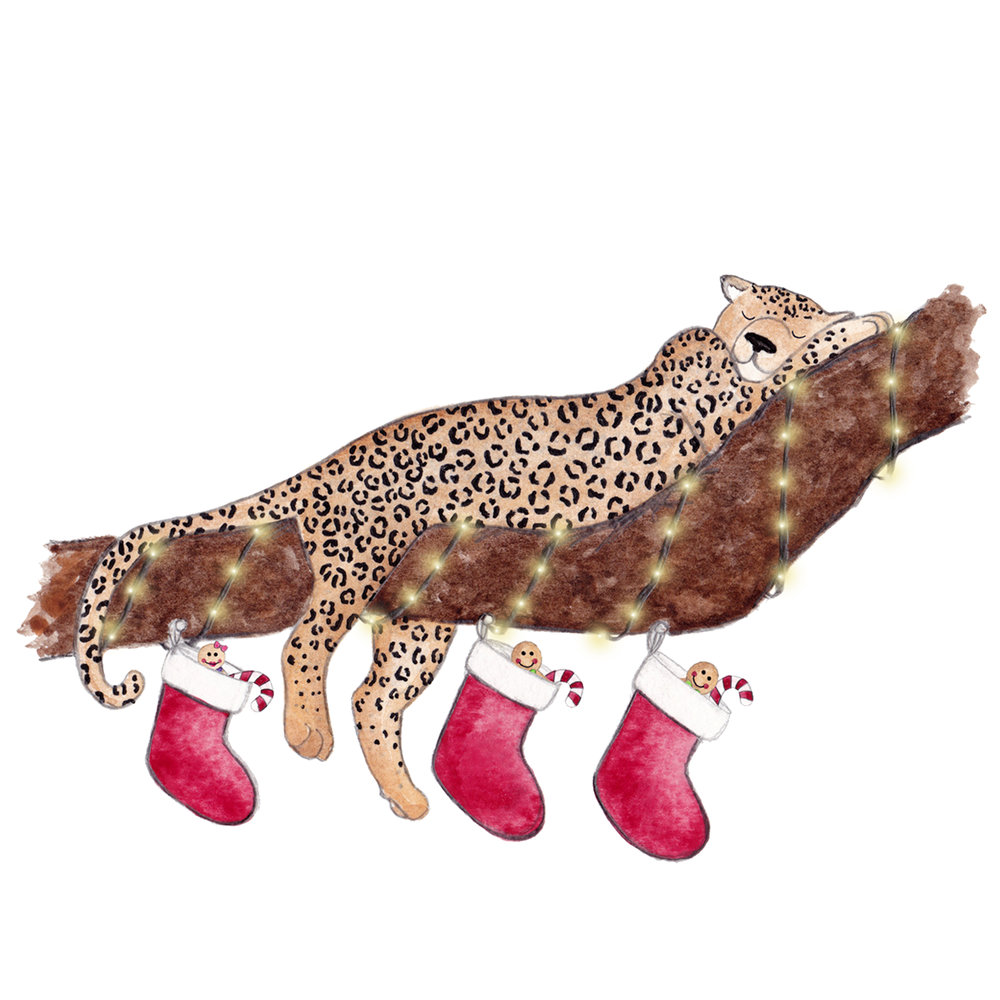 Brazzlebird - Christmas Party Animals Sleeping Leopard
