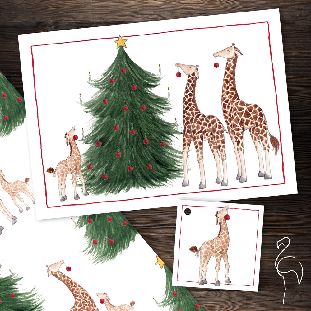 Brazzlebird - Christmas Party Animals Giraffe Gifting Suite