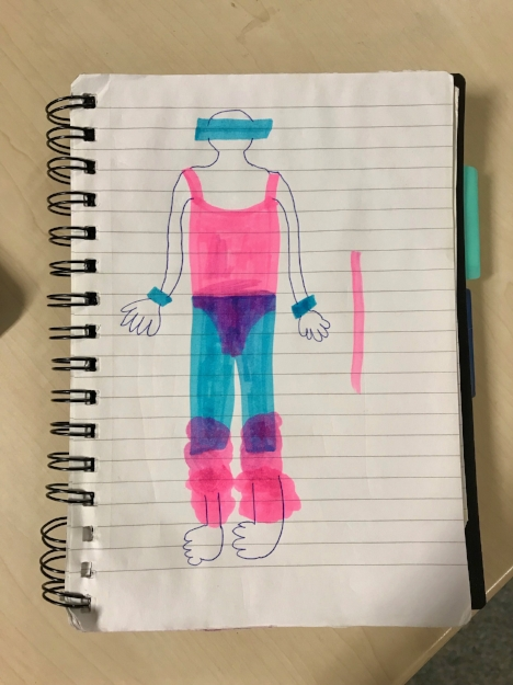 One of the potential costume designs for the 'lifestyle magazine' show