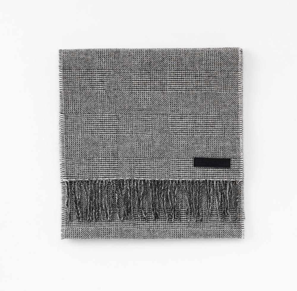 Grey Prince Check   100% Merino Lambswool   Standard (180cm x 30cm)