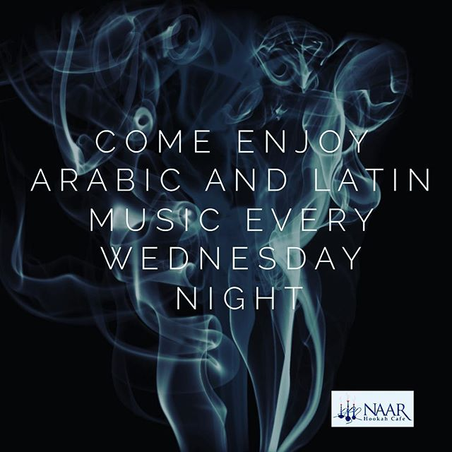 Come enjoy Arabic and Latin music every Wednesday night  #ccu #hookah #naar #coastal #grandstrandnightlife