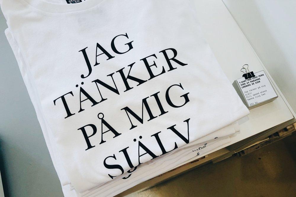 Bra t-shirt. Synd att jag inte behöver någon just nu.