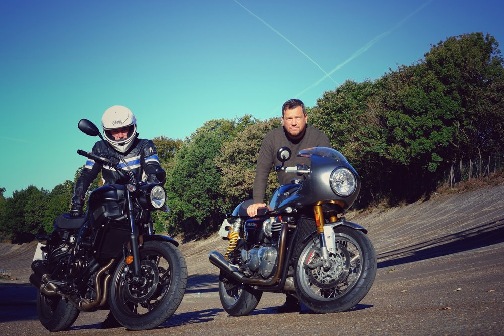 Xav & Gay on Brooklands Track.jpg