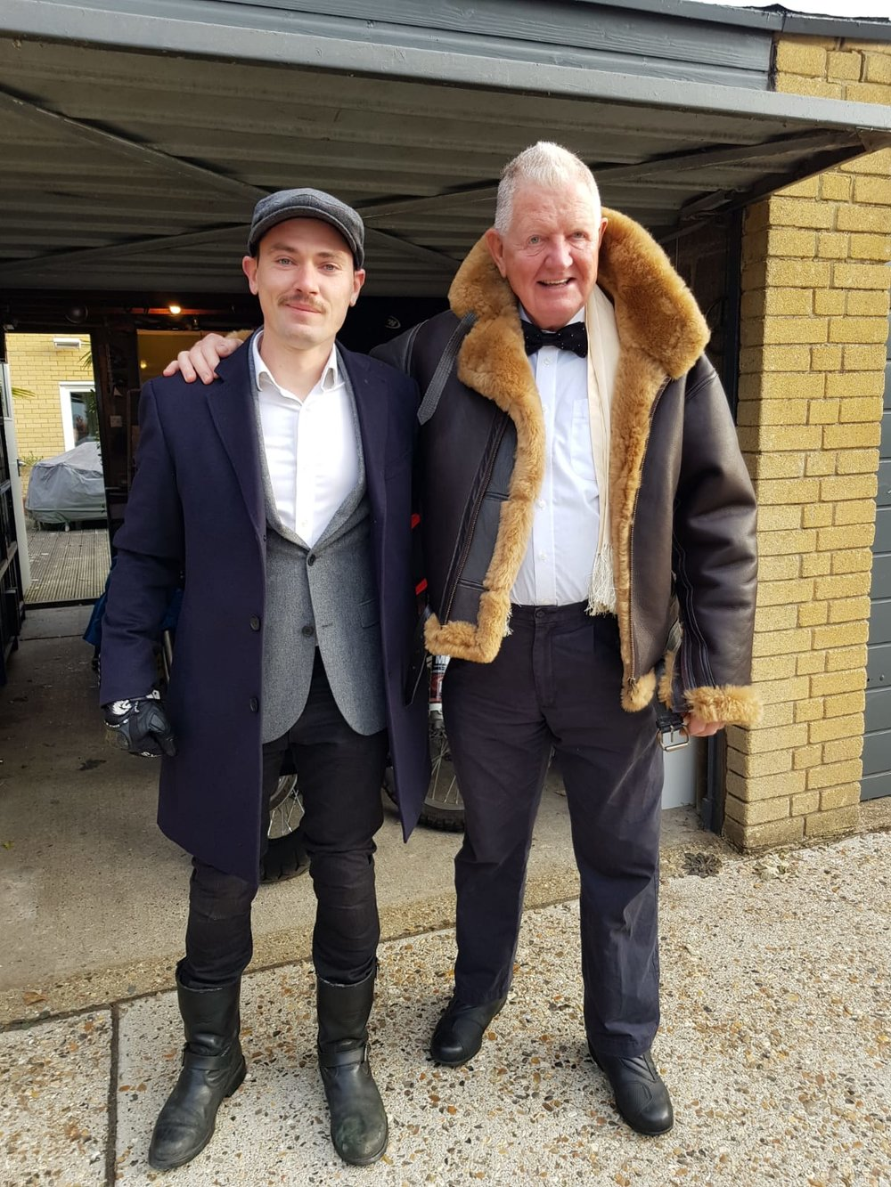 Graham with Xav's dad.