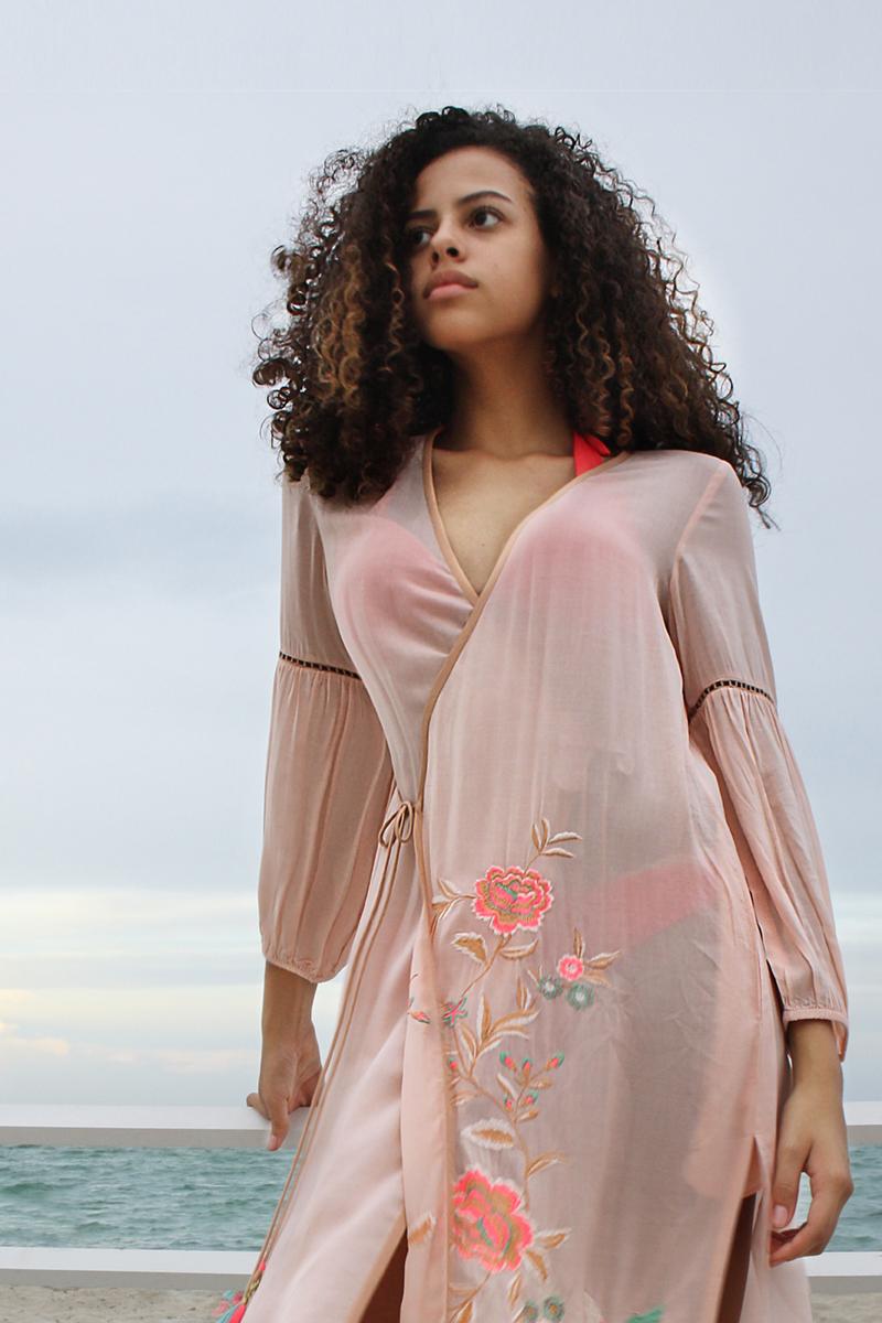 47809  JEVIRIA WRAP DRESS BLUSH