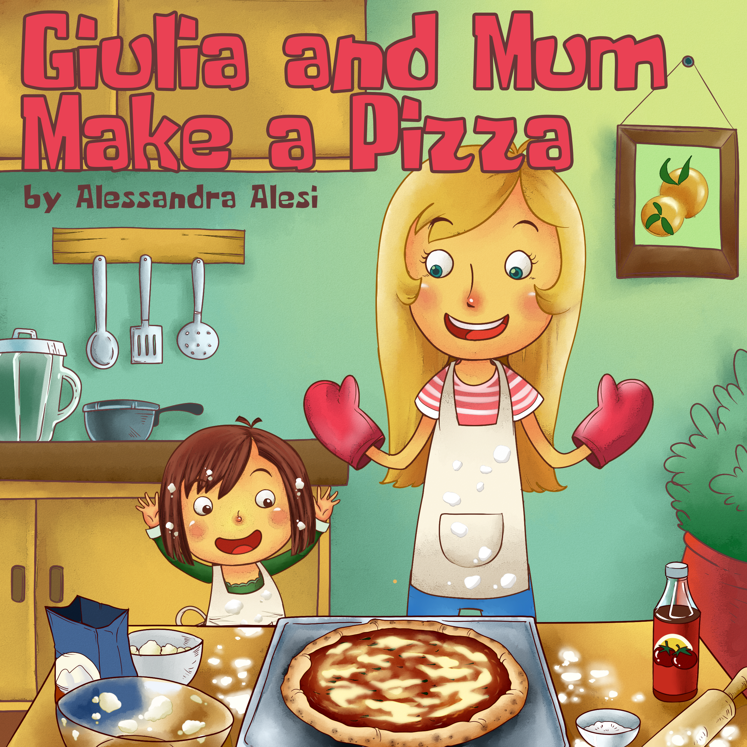 Giulia and Mum Make a Pizza