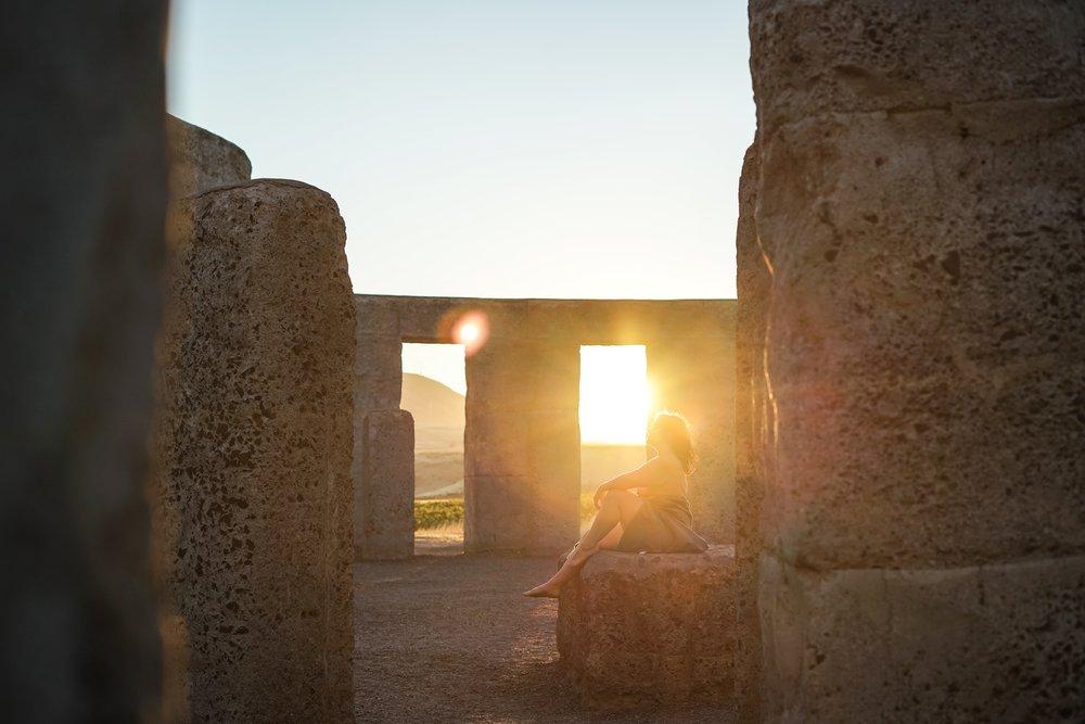 Self Portrait - Stonehenge replica, Marysville WA.