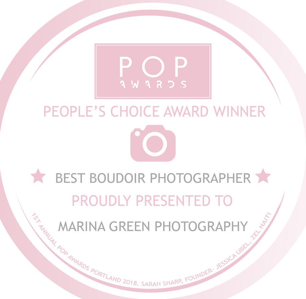 POP Awards Best Boudoir Photographer Award