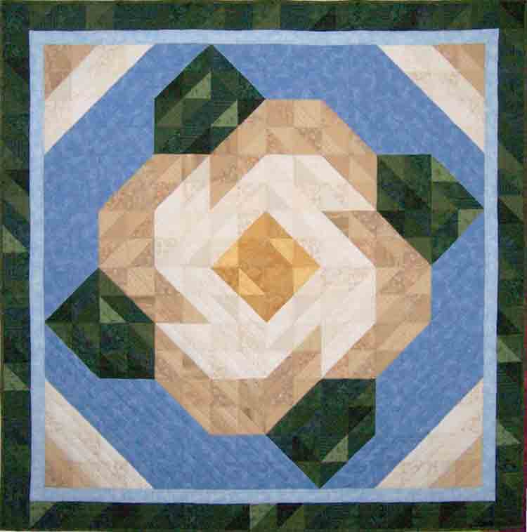 custom magnolia quilt by Whimzie Quiltz and More