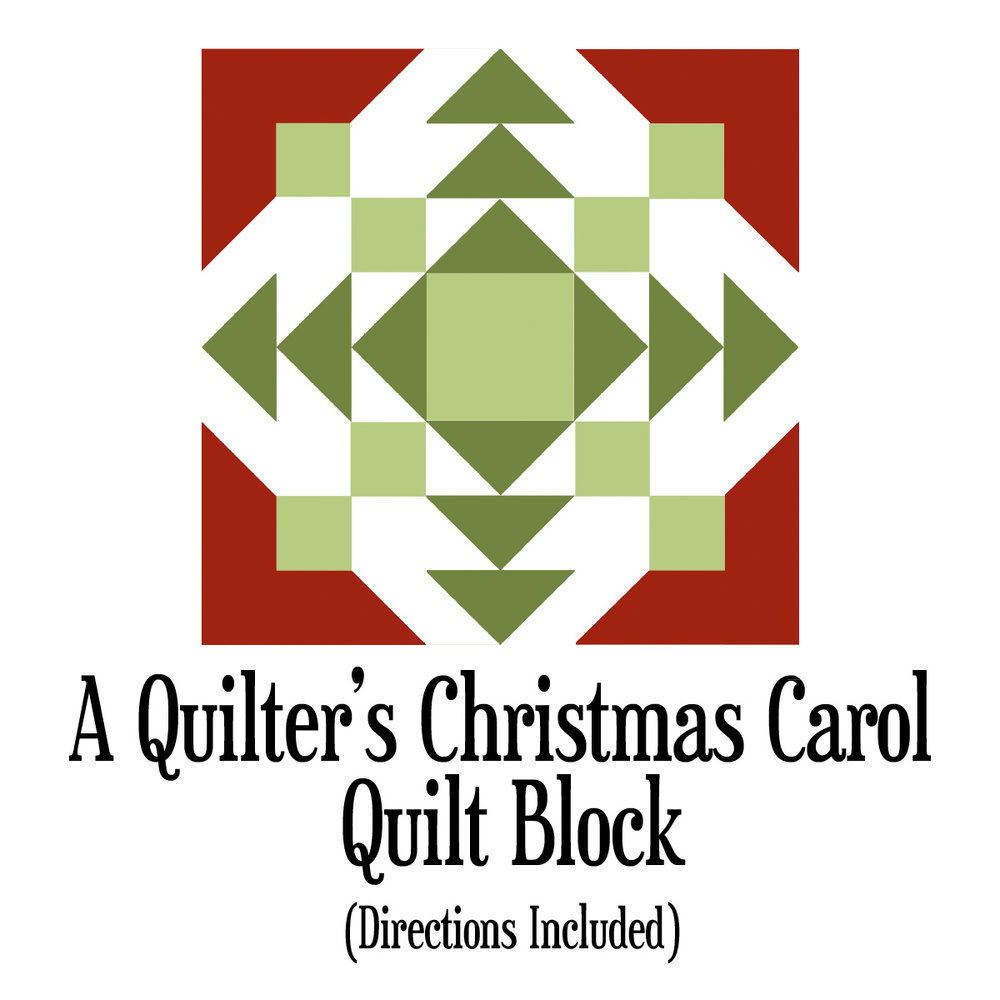 A Quilter's Christmas Carol quilt block