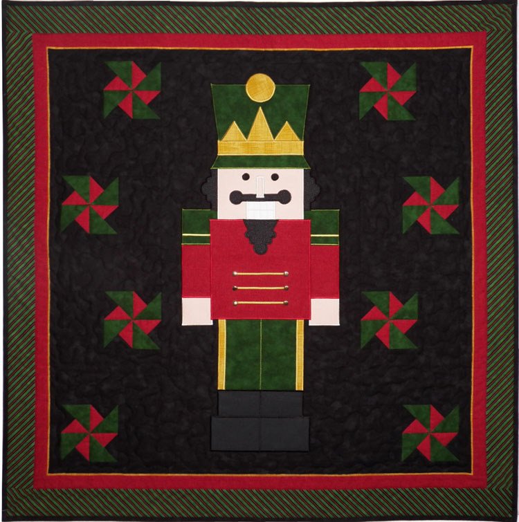 custom nutcracker quilt by Whimzie Quiltz and More