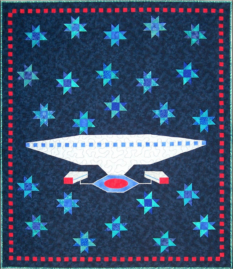 custom Start Trek TNG quilt by Whimzie Quiltz and More