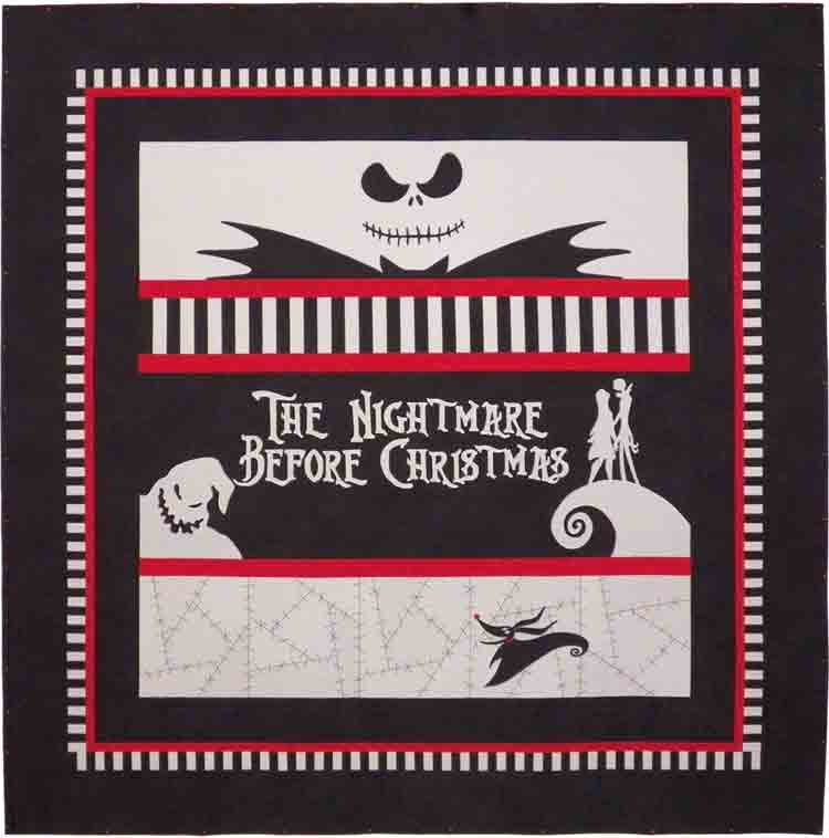 custom The Nightmare Before Christmas quilt by Whimzie Quiltz and More