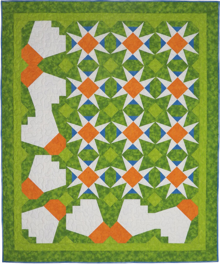 custom badminton quilt by Whimzie Quiltz and More