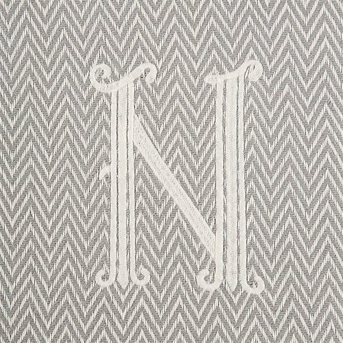 MudPie Initial Throw - Herringbone pattern - Letter N — The ... 8f8232b51