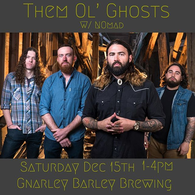 Come catch @themolghosts with @nomadbandla THIS SATURDAY at @gnarlybarley for their winter beer release! Music from 1-4pm and beer EVERYWHERE!