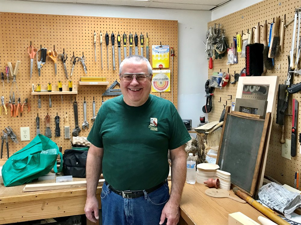 """I volunteer because I like woodworking and helping people.""  -Mike"