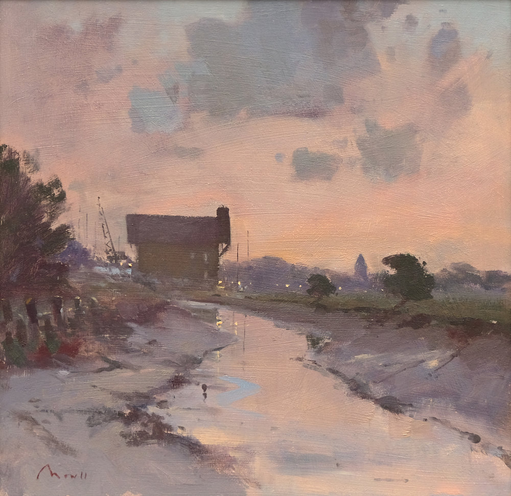 Dusk, Faversham Creek - Reference: BM/14253Oil, 45x45cm (unframed)£1,380.00