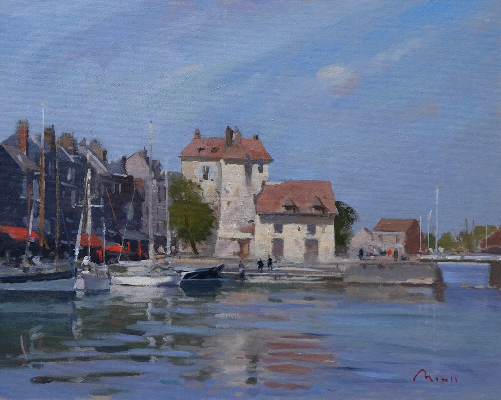 Honfleur, harbour reflections - Reference: BM/14263Oil, 40x50cm (unframed)£1,500.00