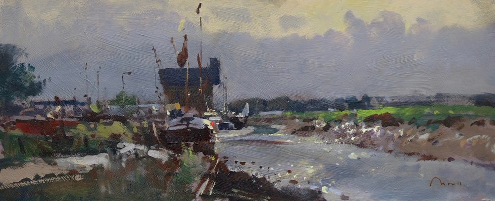 Faversham Creek - Reference: BM/14264Oil, 26x60cm, unframed£1100.00