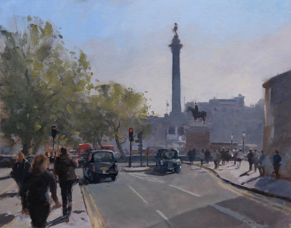 Trafalgar Square, London - Reference: BM/14265Oil, 50x60cm (unframed)£1,500.00