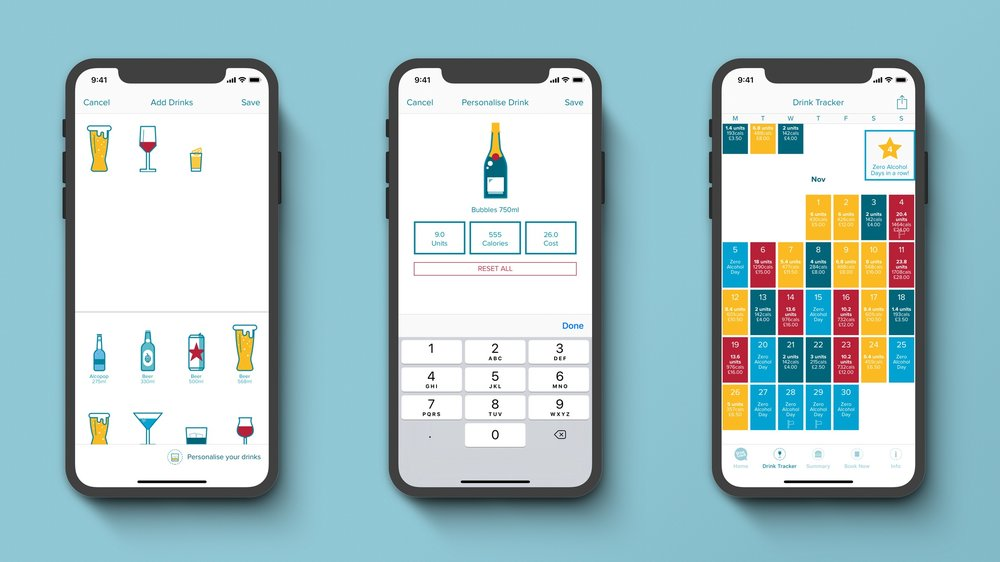 Drink less with:The DrinkCoach App -