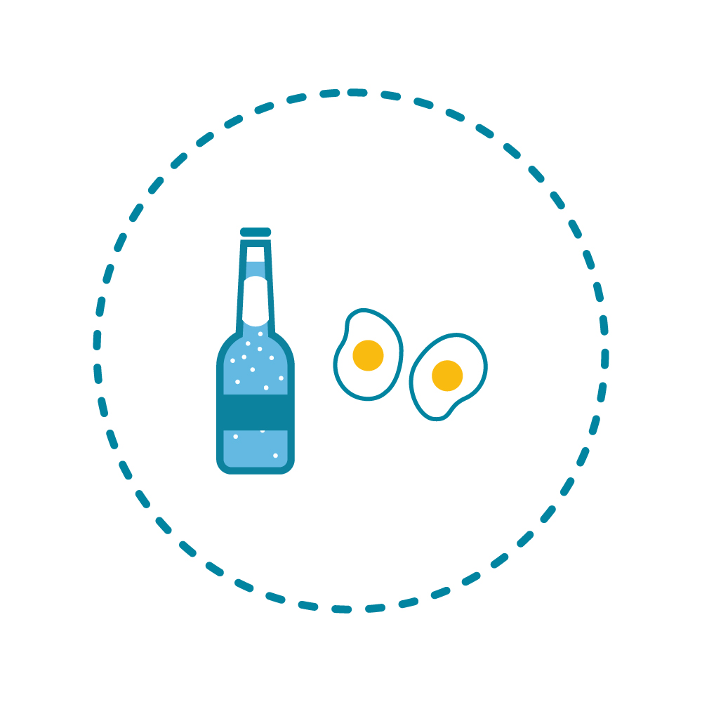A small bottle of alcopop = 193 calories, the same as TWO fried eggs! -