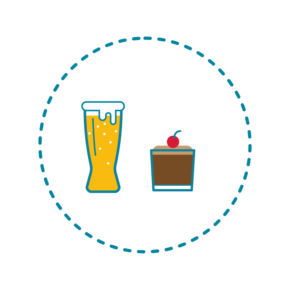 A pint of beer = 244 calories, the same as a chocolate mousse! -