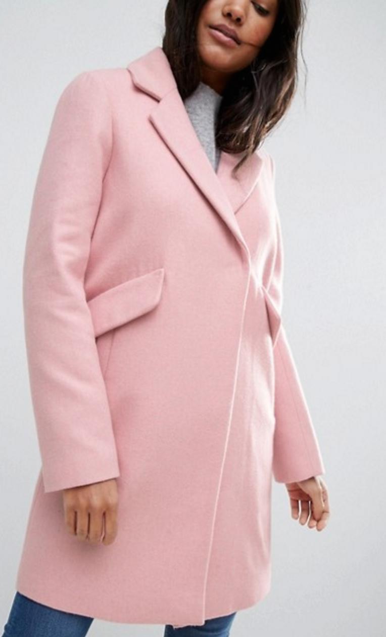 ASOS Slim Pink Coat