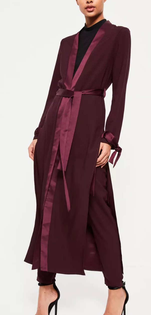 Missguided Satin Duster