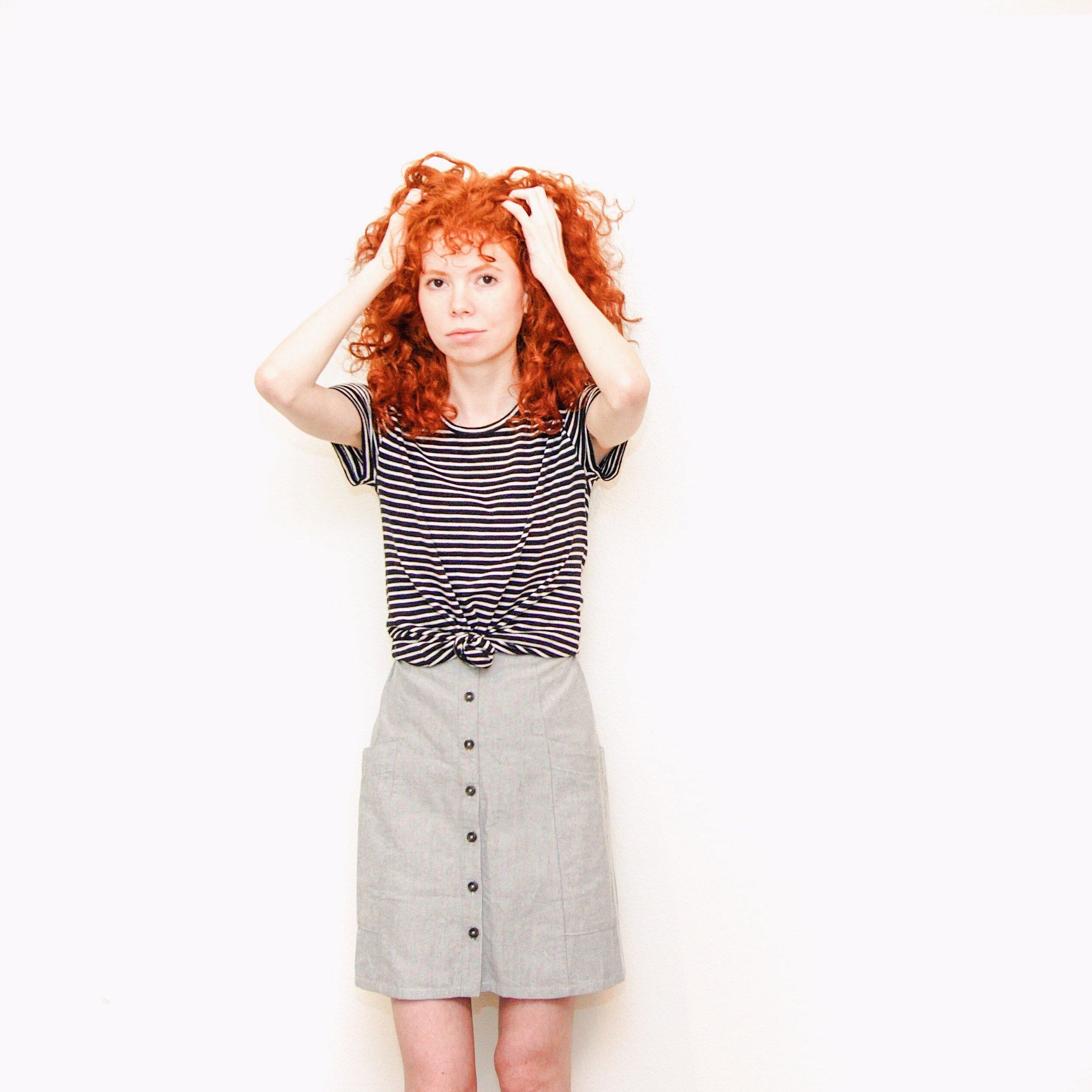 stripe-shirt-button-front-skirt