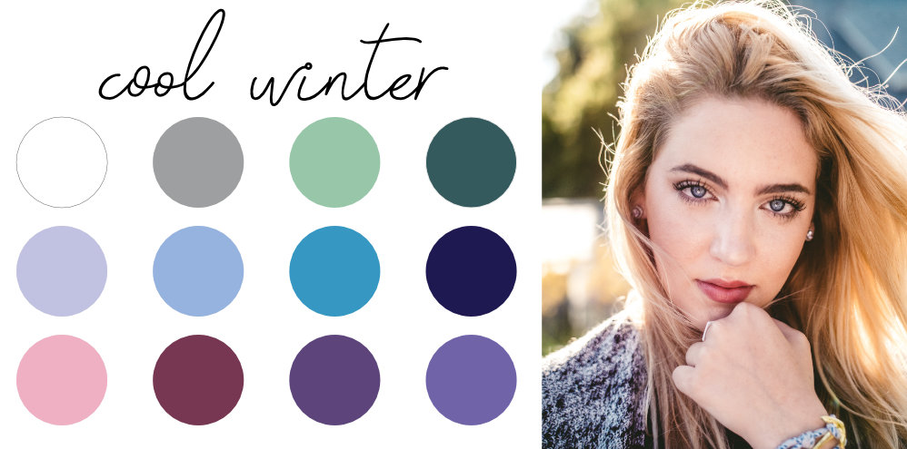 cool-winter-color palette