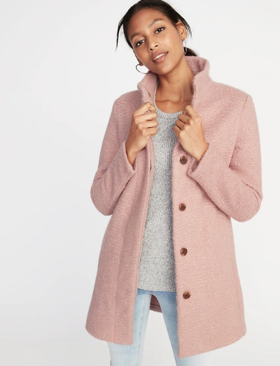 old-navy-pink-boucle-coat