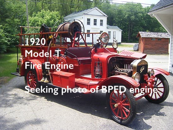- 1920 - Watrous Fire Engine Company Ford Model T Combination Pumper and Booster Fire Engine [no photo of this engine has been located. If you have a photo, the Fire Company asks that you contact us, so we may obtain a copy]The first use of the engine was recorded on January 8, 1921 when it responded to a fire in the home of Alvah Drayton. The engine worked well, and the house was saved.In 1923 the engine was equipped with chemical tanks. It was replaced by the 1931 Chevrolet and loaned to Maple Springs, who purchased it in 1935In 1921 an additional truck, a small Ford, used as a delivery truck by Skillman's Grocery was purchased and fitted with a box to carry 500 feet of hose.