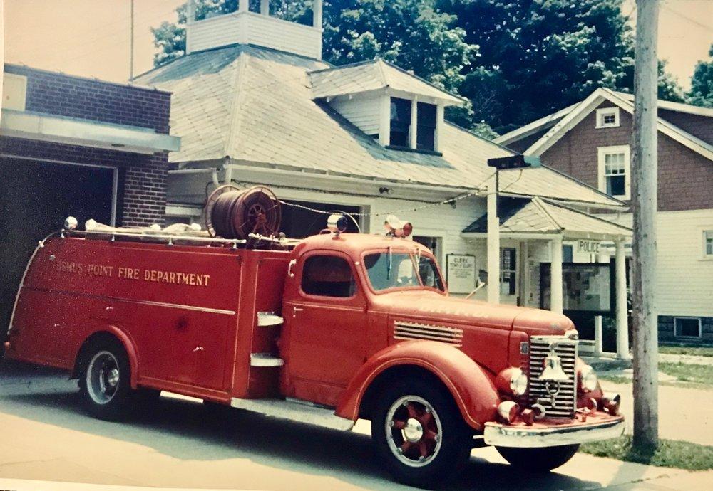 "- 1948 - International Motor Truck Pumper E-410. I-KB6 158"" built by JNK Jamestown, NY replacing the 1922 Larabee. In service through 1967,"