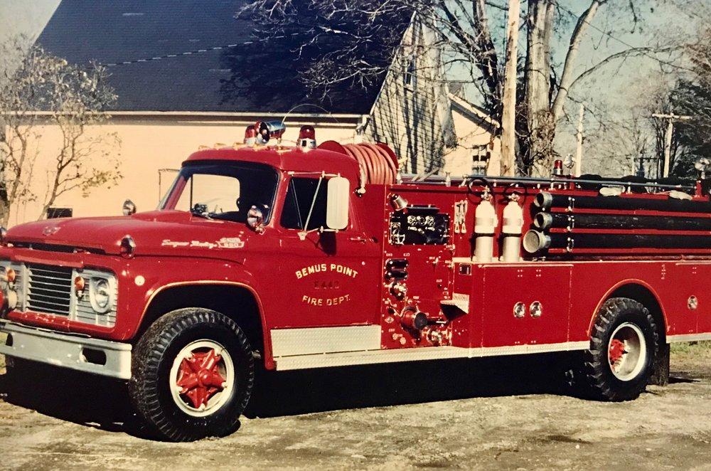 - 1967 Ford / Maxim F950 Gasoline Engine E-442 - 750 gallon per minute pumper. Replaced the 1948 International pumper. Remained in service until 1988.