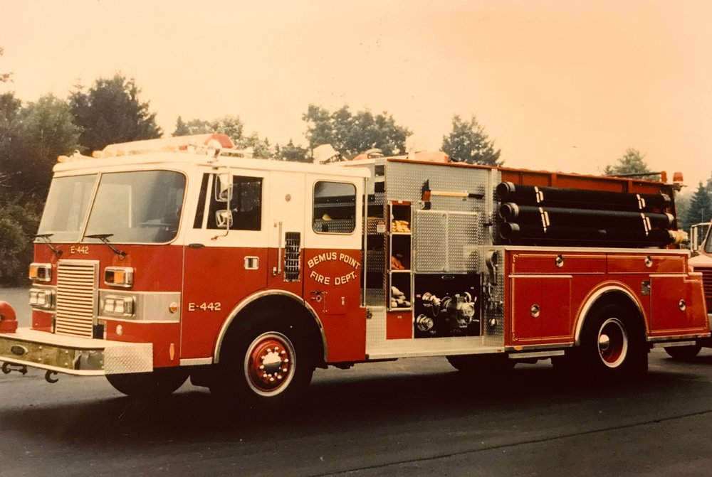 - 1988 Pierce 1250 gallon per minute top mount Lance pumper. Engine 442 had a 400HP disel engine donated by the Cummins Engine Co. It was sold to Gerry Fire Department in 2015 (designated as E-461), replaced by the 2014 Pierce pumper.