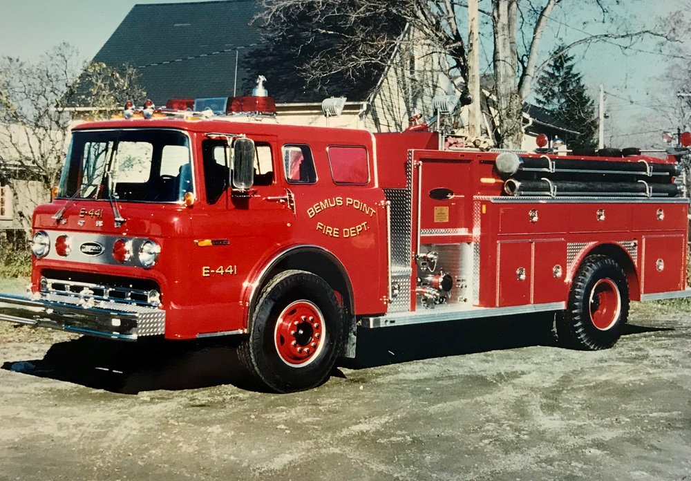 - Ford - Engine 441 - Dedicated August 30, 1979 to Robert E. Stahley, a member of the department since 1948.