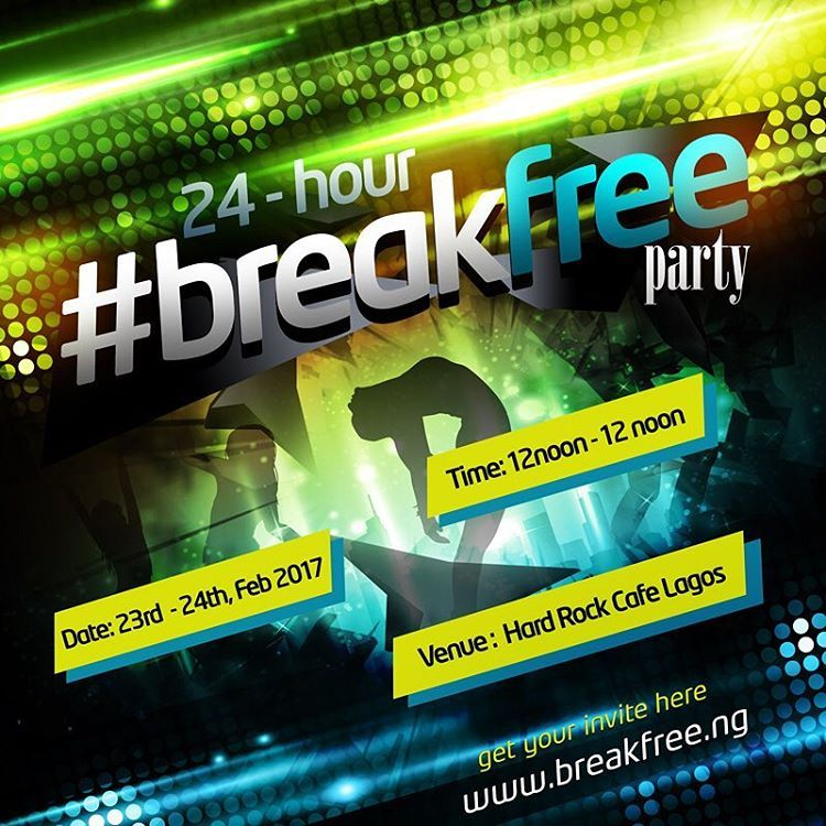 Ever thought about partying for 24 hours non-stop? Well, stop thinking. Come out and let's party for one whole day. Visit  www.breakfree.ng  to get your invite now and stand a chance to win exciting prizes. Also join the conversations via #BreakFree. Terms and conditions apply.   (at Hard Rock Cafe Lagos)