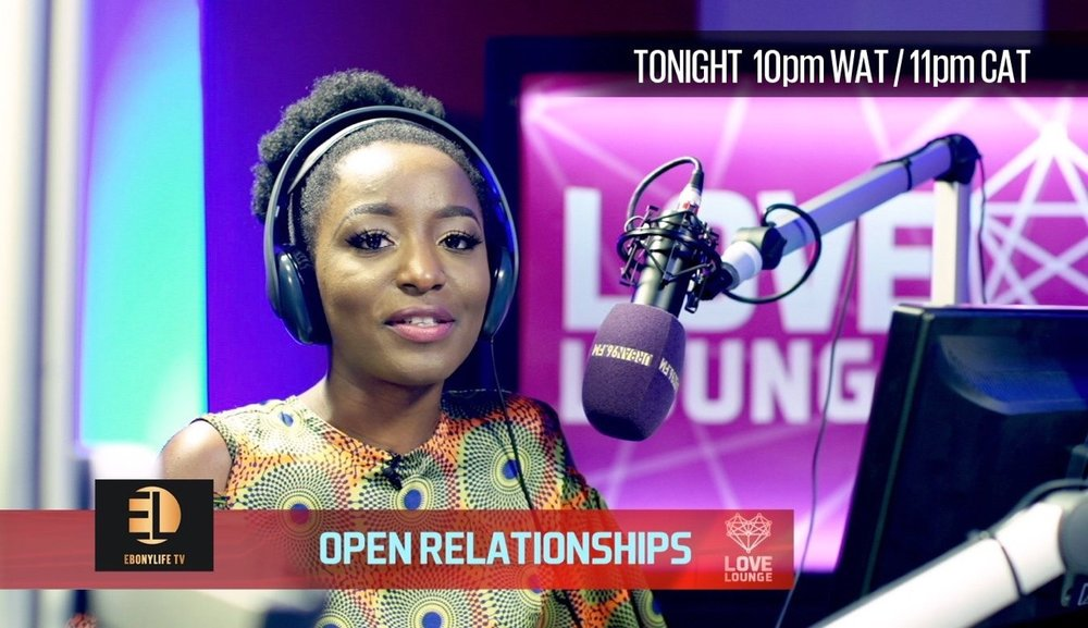 Muggings here is back on your black box tonight! Tune in to Love Lounge on EbonyLife TV - 10PM West African time, let's get schooled together by Shade Ladipo and J-shua Genero Ajitena.     Our topic tonight? Open Relationships.  Get in where you fit in :)