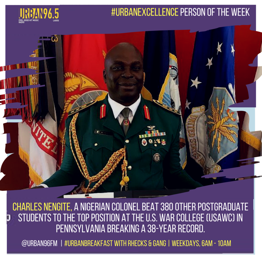 On Wednesdays, Urban96 celebrates high achievers in Urban Excellence.       http://www.flatimes.com/2016/06/charles-nengite-nigerian-colonel-emerges-best-graduand-u.s-war-college-photos.html?m=1