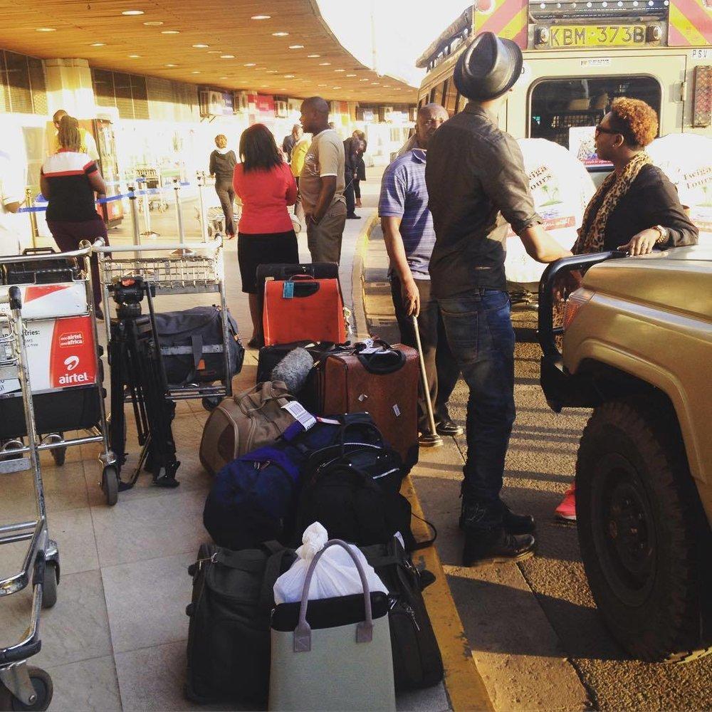 Time to say goodbye #Nairobi 😘 #DestinationsAfrica coming soon to @ebonylifetv thank you for the experience @iamkwamebonsu, @wakanowdotcom