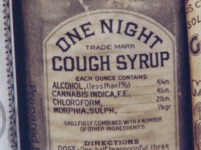 "she-who-shall-not-be-laid :    mhalachai :    patrickthomson :   this is your periodic reminder that old-timey medicines did not fuck around   Yeah that'd probably handle a cough.   ""skillfully combined with a number of other ingredients"" what else did they fucking put in there     Good Lord!"