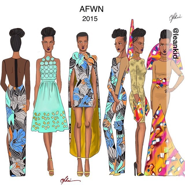 @leankid's illustration of Saturday's #NNTD & #AFWN looks from catwalk the mall.     There's plenty more where that came from! Join us on the 23rd & 24th May at Eko Hotel for #AFWN2015.     Saturday's showtime: 2pm, 5pm, 8pm.   Sunday: 3pm. If you comment below with day & time preference AND #AFWN2015, you just might win tickets today.       #Art #DigitalArt #Fashion  #AfricaFashionWeekNigeria  #Illustration #Illustrator  #BlackGirlsAreMagic #StreetStyle